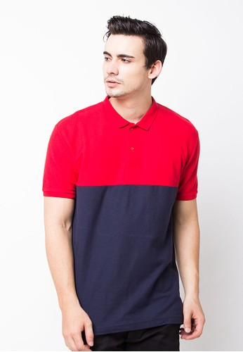 Endorse Polo Shirt E & 2Colour Red Navy END-OG093