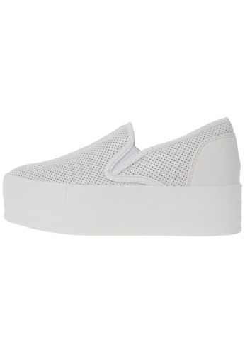 Maxstar C7 50 Punched Synthetic Leather White Platform Slip on Sneakers US Women Size MA168SH98DKZHK_1
