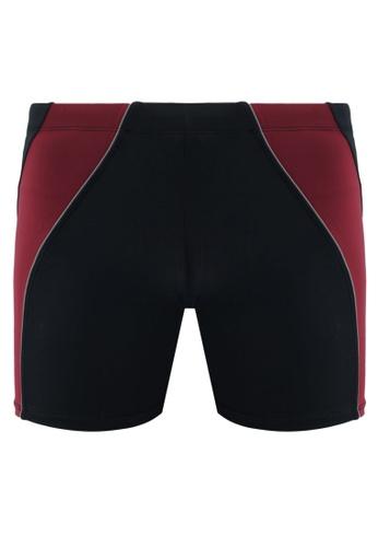 Funfit 黑色 and 紅色 雙色四角泳褲 F89E9AAB51410EGS_1