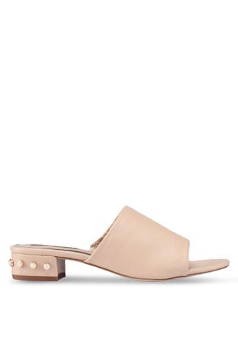 Miss KG beige Rea Pearl Sandals 434BDSH57FC646GS_1