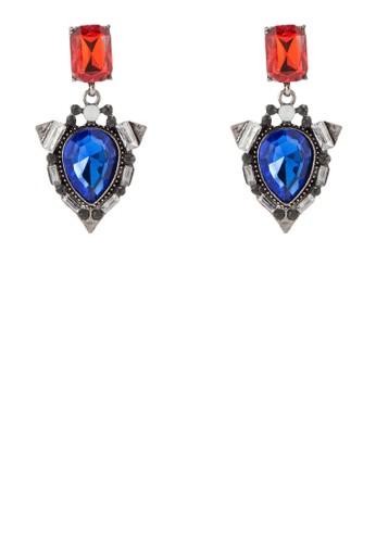 Sapphire 水滴集合閃鑽垂墜耳飾, 飾品配件,esprit outlet台北 耳釘