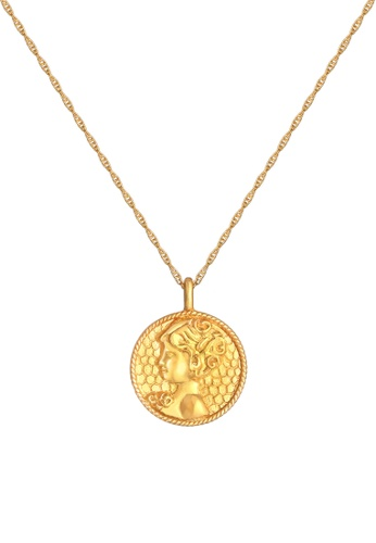 ELLI GERMANY gold Zodiac Sign Virgo Coin Gold Necklace C1B8FAC1591A5BGS_1