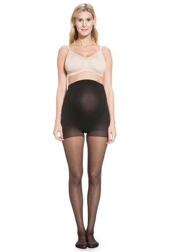 Mayarya black Over Belly Sheer Maternity Stockings 6F05AAA97B047AGS_1