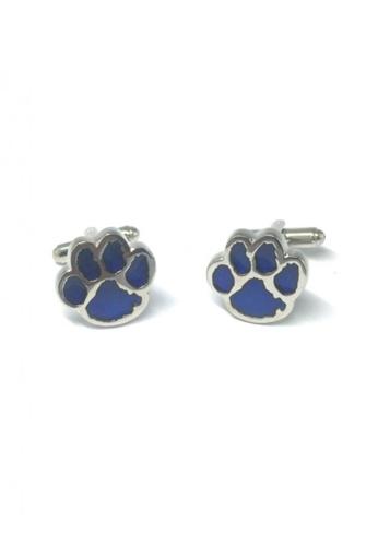 Splice Cufflinks blue and silver Blue Bear Paws Cufflinks   SP744AC73DSWSG_1