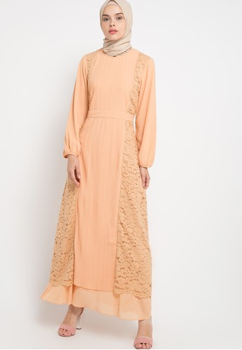 Kamilaa by Itang Yunasz orange Lace Gamis KA273AA86FRPID_1