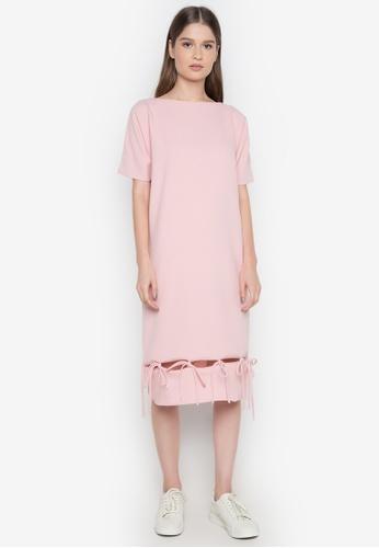 NEW ESSENTIALS pink Ivar Aseron Ribbon Dress NE239AA0JD2HPH_1