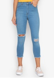 NEXT black High Rise Cut-out Jeans F1CCCAAB0EB6E6GS_1