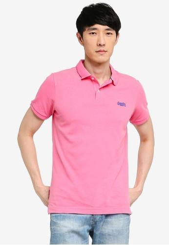 SUPERDRY pink Classic Pique Short Sleeve Polo Shirt 0BA50AAF7EFF91GS_1