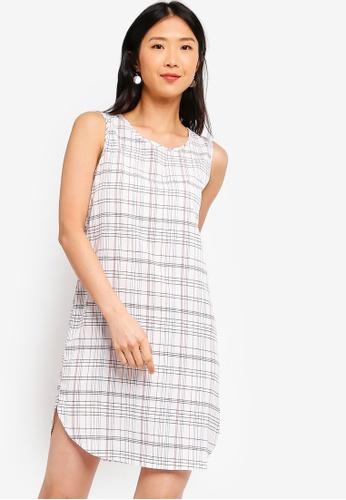ZALORA BASICS white Basic Sleeveless Shift Dress A9F04AAA783AAEGS_1