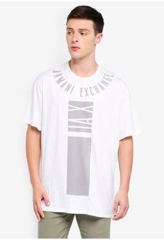 b787263771d Armani Exchange white Logo Ard Collar Crew T-Shirt 1682EAA488CEF7GS 1