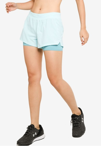 Under Armour blue Iso-Chill Run 2-In-1 Shorts FE715AA3106B7AGS_1