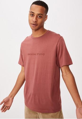 Cotton On red Tbar Text T-Shirt A2079AA8297CB3GS_1