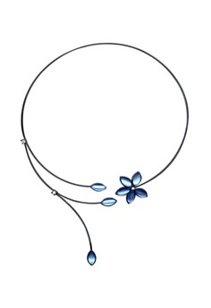 Paris Bijoux NS13995A Rhodium Plated Necklace - Crystal