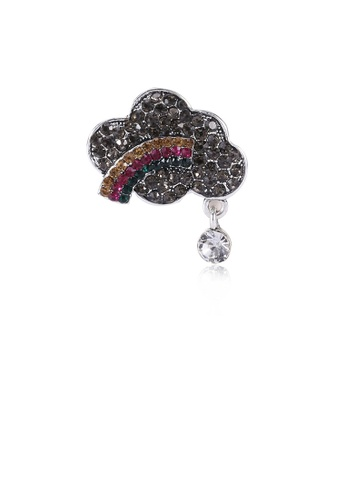 Glamorousky silver Fashion Creative Rainbow Cloud Brooch with Cubic Zirconia 5084CAC4D05193GS_1
