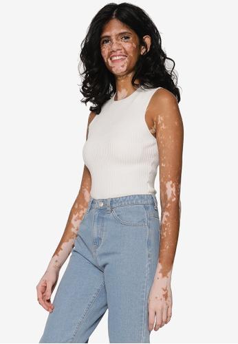 Abercrombie & Fitch white Sleeveless Boytank Bodysuit 97E19AA1A2B4AEGS_1
