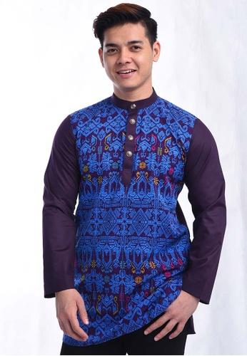 UA BOUTIQUE blue Kurta Batik RBK04-041 (Blue) 90440AAB9D155DGS_1