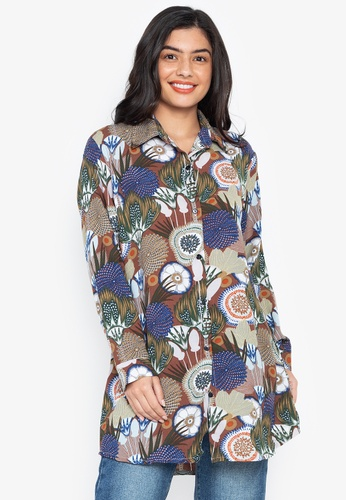 3be854fab57a6 Shop Chictees Printed Tunic Shirt Online on ZALORA Philippines
