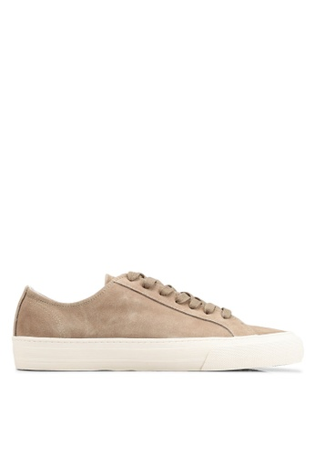 MANGO Man grey Lace-Up Suede Sneakers 95263SHC1B4AF2GS_1