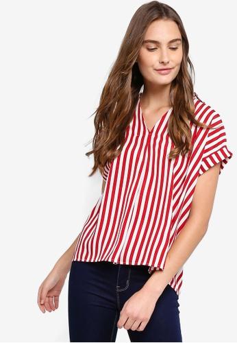 Shop ZALORA BASICS V-Neck Short Sleeves Top Online on ZALORA Philippines f0d8e7ee8