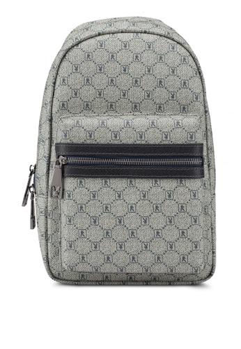 Playboy blue Faux Leather Chest Bag C5BB2AC6F4C055GS_1