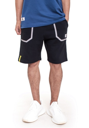 Reoparudo black RPD Reflective Pocket Sweat Shorts (Black) 41029AAA1D8055GS_1