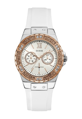 Guess Watch white Guess Jam Tangan Wanita - White Rosegold - Rubber - W1053L2  8DAF0AC74268BDGS_1