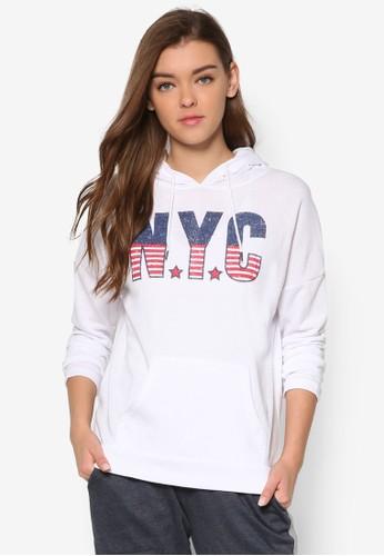Emerson 紐約城市文字連帽衫、 服飾、 服飾FactorieEmerson紐約城市文字連帽衫最新折價