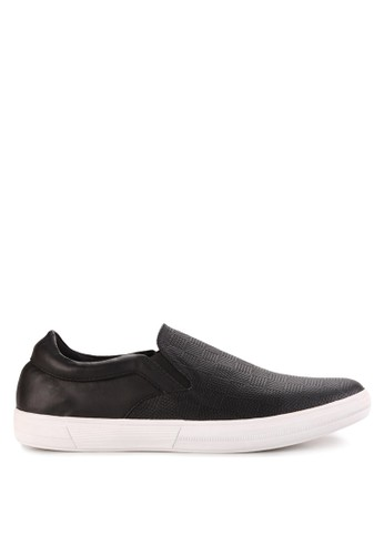 KENT & CREW black Slip On Sneakers KE584SH75HRWID_1