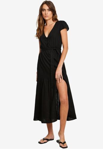 The Fated black Rita Midi Dress 63307AA6FC0B48GS_1