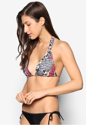 Ramona Roar Pesprit chinarint Halter Bikini Top, 服飾, 服飾