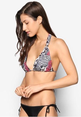 Ramona Roar Print Halter Bikini Top, 服飾,esprit高雄門市 服飾