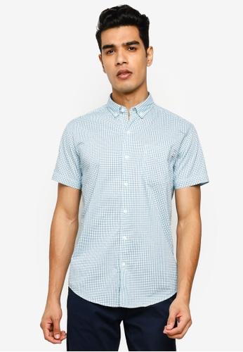 Timberland blue Eastham River Stretch Poplin Slim Shirt 02253AAEA6533CGS_1