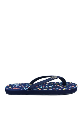 Ripples blue Little Florals Flip Flops 0ED9ESH78C3808GS_1