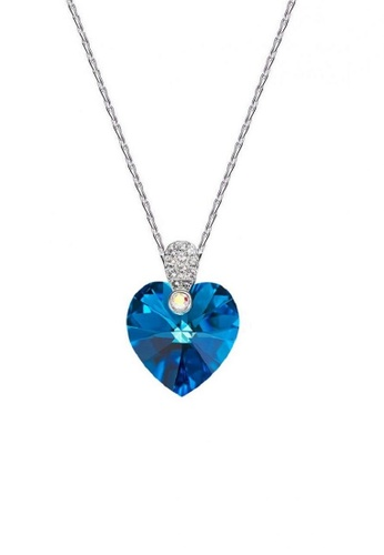 ADORA blue Swarovski Heart Pendant Necklace 53A18AC57AE989GS_1