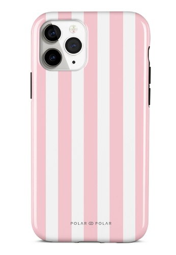 Polar Polar pink Baby Pink Stripe Dual-Layer Tough Case Glossy For iPhone 11 Pro A6285AC339DAE6GS_1