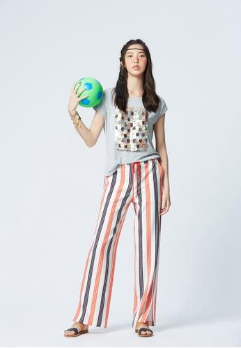 iROO multi Contrast Stripe Trousers 14760AA40DD1D2GS_1