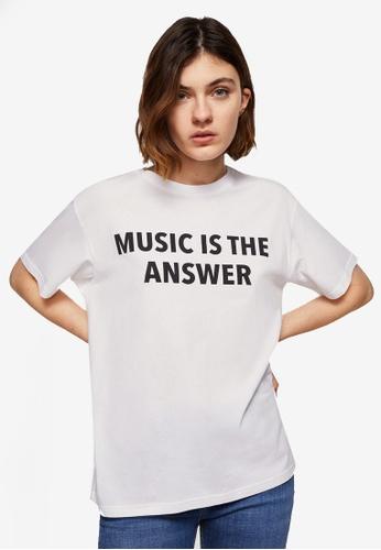 Mango white Printed Message T-Shirt 8121AAA407289DGS_1
