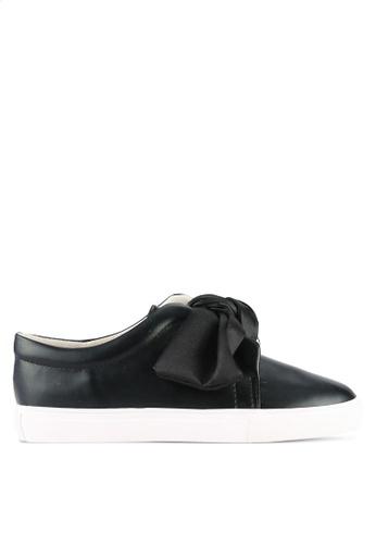 Something Borrowed black Knotted Slip Ons 9DE4CSH3051E0AGS_1
