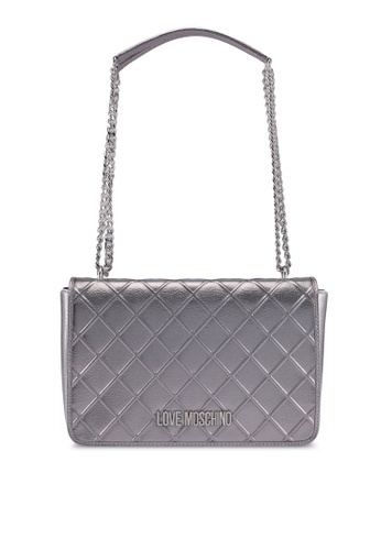 Love Moschino silver LOVE MOSCHINO Shoulder Bag LO478AC0SXWYMY_1