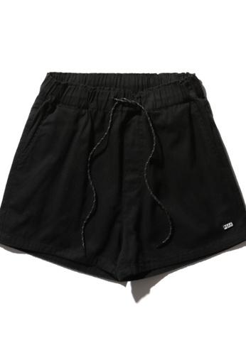 """Fingercroxx black """"FAMOUS"""" print drawstring shorts 3E315AA2A2E9AFGS_1"""