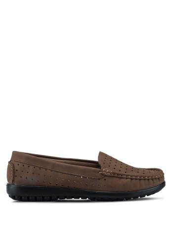 Louis Cuppers brown Casual Flats CC380SH111AD7BGS_1