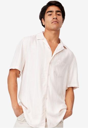 Cotton On pink Textured Short Sleeve Shirt 00AEAAA1EC805AGS_1