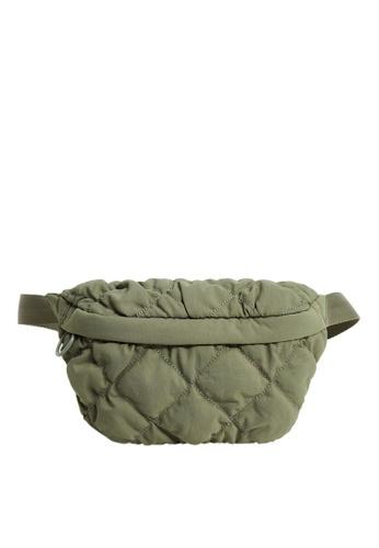 Mango green Quilted Belt Bag 1753BACE63A344GS_1