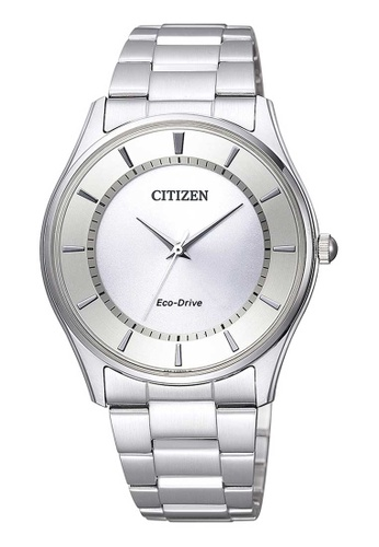 CITIZEN silver Citizen Eco-Drive White and Silver Stainless Steel Watch 8B192AC9F0744AGS_1