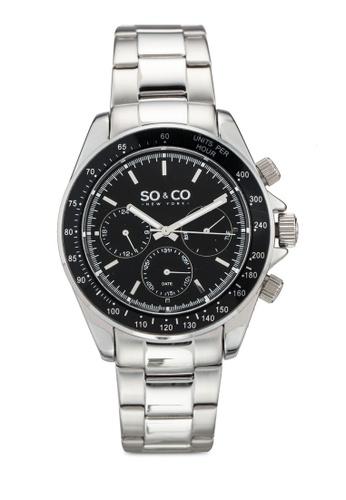 SO&CO silver Monticello Watch 5010B F8C68ACF1F083AGS_1