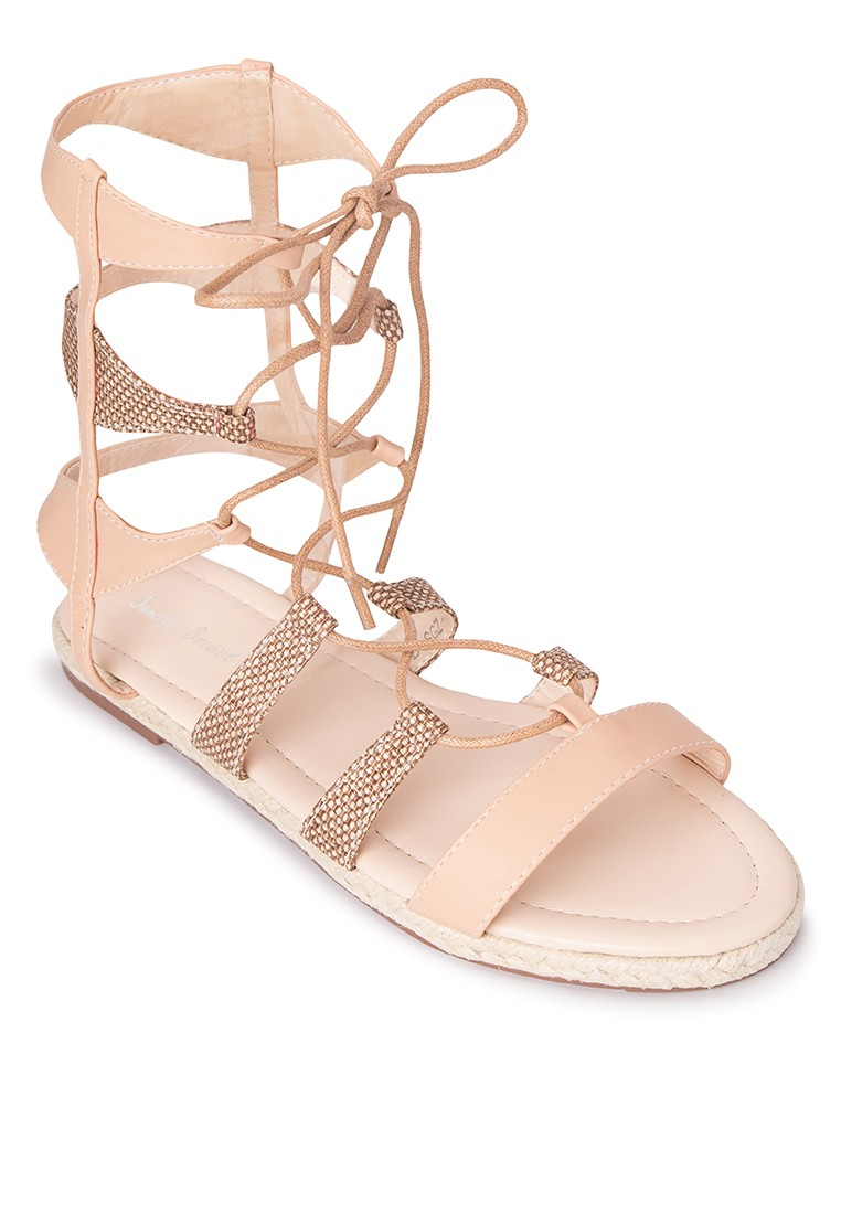 Cut Out Laced Up High Gladiator Sandals