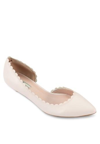 扇貝邊esprit 台灣門市飾低跟鞋, 女鞋, 厚底高跟鞋