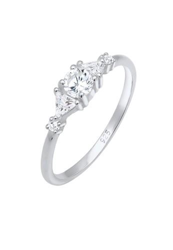 Elli Germany white Perhiasan Wanita Perak Asli - Silver Cincin Triangle Sparkling Zirconia EA8FFAC0F4D908GS_1