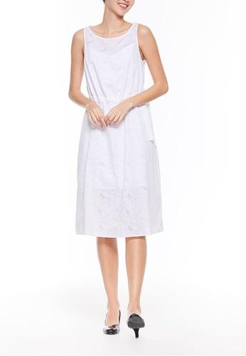 Sisley white Sleeveless Dress DC28CAA5A6B243GS_1