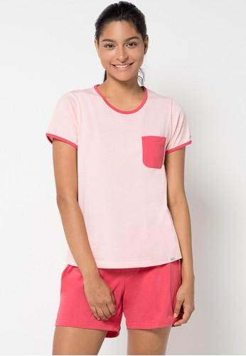 PUPPY red and pink Dinda Sleepwear PU643AA22KBXID_1